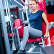 Woman at the gym exercising — Stock Photo #19954843