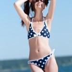 Beautiful woman on the Beach — Stock Photo