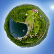 Beautiful small green village from above — Stock Photo