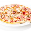 Tasty Italian Pepperoni pizza — Stock Photo