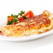 Omelet with herbs and tomatoes — Stock Photo #19981527