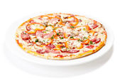 Tasty Italian Pepperoni pizza — Stock Photo