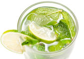 Mojito cocktail on white — Stock Photo