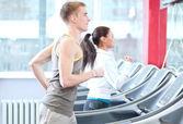 Kadın ve erkek spor egzersiz — Stok fotoğraf