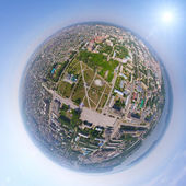 Aerial city view from air (helicopter) — Stok fotoğraf