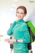 Zakupy kobieta kolor torby — Zdjęcie stockowe