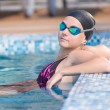 Female swimmer in blue water swimming pool. Sport woman. — Stock Photo #32886495