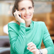 Business woman talking on cell phone — Stock Photo #37223169