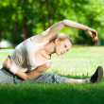 Young woman doing yoga exercise — Stock Photo #8461807