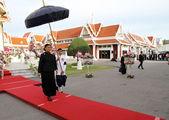 BANGKOK - MAY 26:Royal Highness Princess Maha Chakri Sirindhorn attend the funeral Chumphon Sinlapa-a-cha at Thepsirin temple on May 26, 2013 in Bangkok,Thailand — Stock Photo