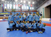 Thailand futsal team received the second runner-up — Stok fotoğraf