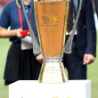 Trophy for the winner Singha 80th Anniversary Cup Manchester United vs Singha All Star — Zdjęcie stockowe
