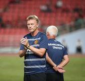 David Moyes head coach of Man Utd. — Stock Photo