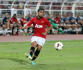 Rafael Da Silva of Man Utd. — Stock Photo
