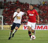 Ryan Giggs (R) of Man Utd. — Stock fotografie