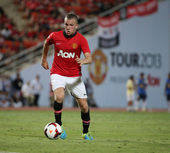 Tom Cleverley (R) of Man Utd. — Stock fotografie