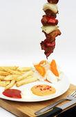 Brocheta de carne de cerdo — Foto de Stock