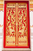 Beautiful temple door — Stock Photo