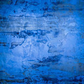 Designed blue grunge plastered wall texture, background — 图库照片