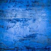 Designed blue grunge plastered wall texture, background — Stockfoto