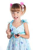 Portret van een mooi klein meisje — Stockfoto