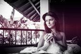 Retrato de una bella mujer — Foto de Stock