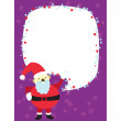 Stock Vector: Christmas Santa Clause Template Card