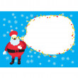 Stock Vector: Christmas Santa Clause Card