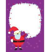 Christmas Santa Clause Template Card — Stock Vector