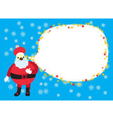 Christmas Santa Clause Card — Stock Vector