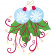 Snow Flake Christmas Ornament — Stock Vector