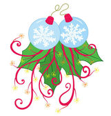 Snow Flake Christmas Ornament — Stock Vector