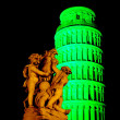 Green Leaning tower — Stock Photo