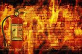 Concept fire — Stock Photo