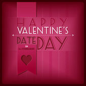 Valentine's Day greeting card — Stockvector
