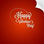 Valentine's Day greeting card — Stockvector