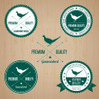 Vintage Pheasant Badge set - Stock Vector