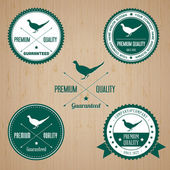 Vintage Pheasant Badge set — Stock Vector