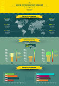 Infographic rapport - infogrpahic element — Stockvektor