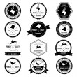 Royalty-Free Stock ベクターイメージ: Vintage Animal Wild collection badge set