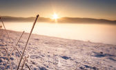 Frosty winter sunset — Stock Photo