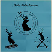 Deer Hunting badges — 图库矢量图片