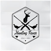 Hunting Fever Badge — Stock Vector