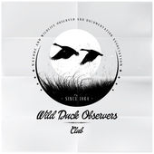 Wild duck observatörer badge — Stockvektor