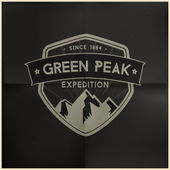Green Peak Expedition — Stock Vector