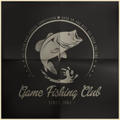 Game Fishing Club — Stok Vektör