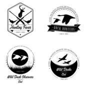 Bitmap Wild animal badge collection — Stock Photo