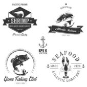 Bitmap Sea animals badge collection — Stok fotoğraf