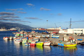 Azores, Sao Miguel yacht and fishing harbor — Stock Photo