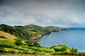 Azores Islands coastline in dramatic sky — Stok fotoğraf